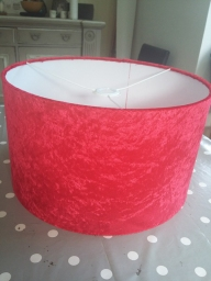Red velvet lampshade