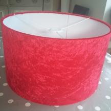 Red velvet lampshade