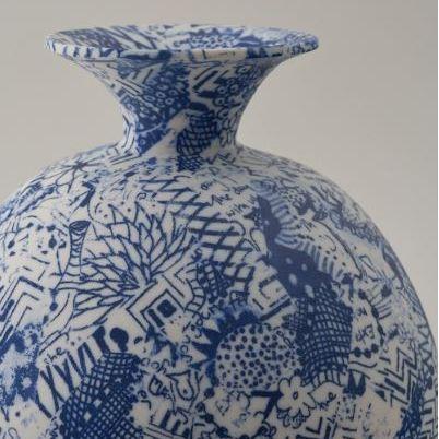 Handmade Chelsea 2019 Carolyn Tripp Ceramics blue