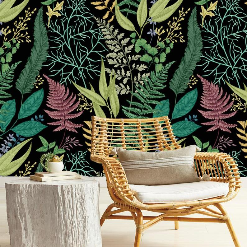 Botanical Print Removable wallpaper from If Walls Would Talk