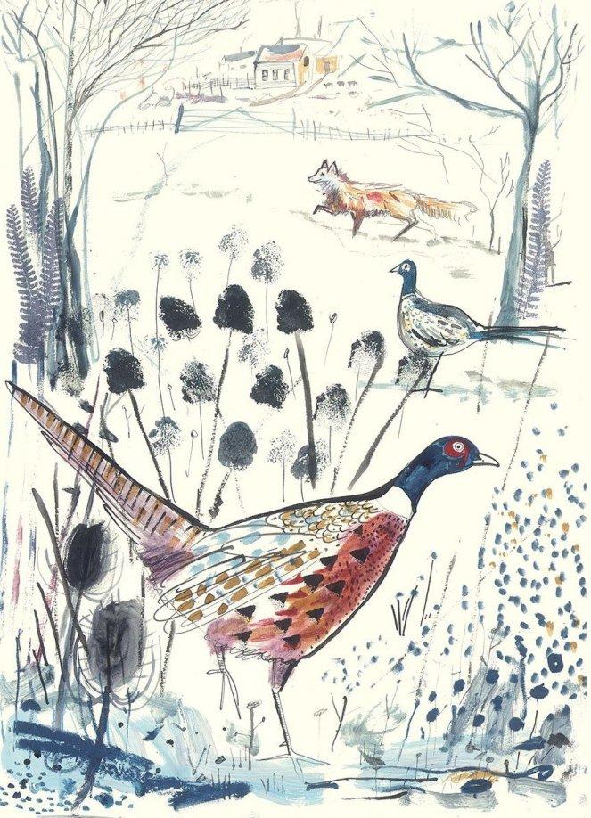 Top Drawer 2020 Art Sam Wilson Pheasant and Fox