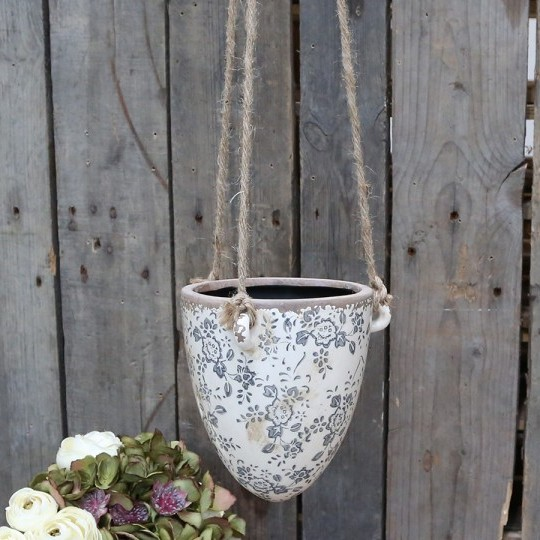 Melun hanging flowerpot from Chic Antique