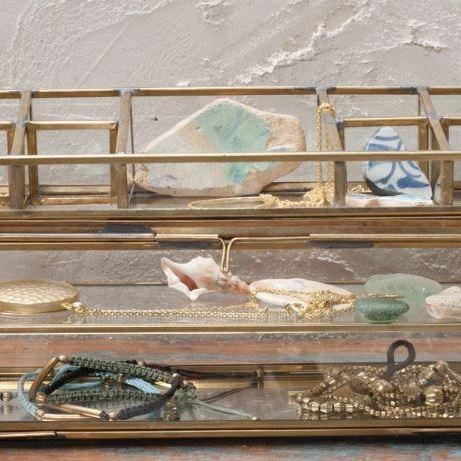 Bequai open jewellery box from Nkuku
