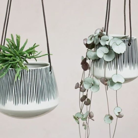 Matamba ceramic hanging planter from Nkuku